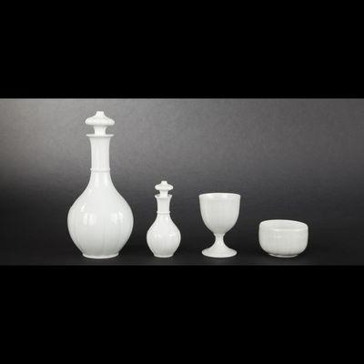 Expertissim - Service de nuit-Expertissim-Service de nuit égoïste en porcelaine. Fin XIXème
