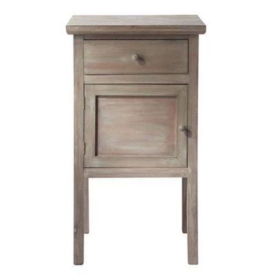 Maisons du monde - Table de chevet-Maisons du monde-Chevet grisé Gustave
