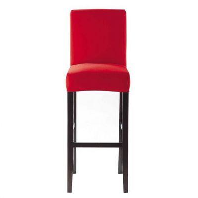 Maisons du monde - Housse de chaise-Maisons du monde-Housse de chaise rouge Boston