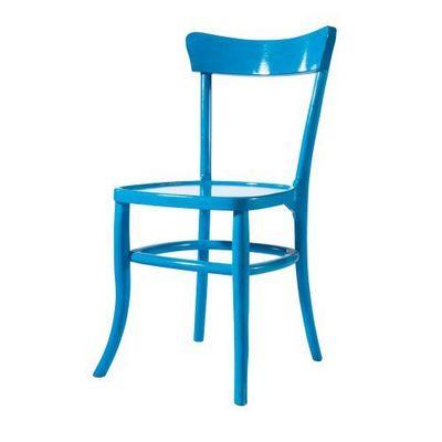 Maisons du monde - Chaise-Maisons du monde-Chaise bleue Bistrot