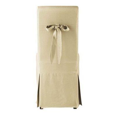 Maisons du monde - Housse de chaise-Maisons du monde-Housse de chaise noud lin Margaux