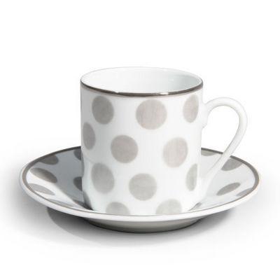 Maisons du monde - Tasse à café-Maisons du monde-Tasse et soucoupe à café Mixed pois
