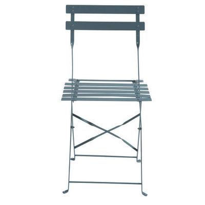 Maisons du monde - Chaise de jardin-Maisons du monde-Lot de 2 chaises grises Guinguette
