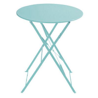 Maisons du monde - Table de jardin ronde-Maisons du monde-Table turquoise Confetti
