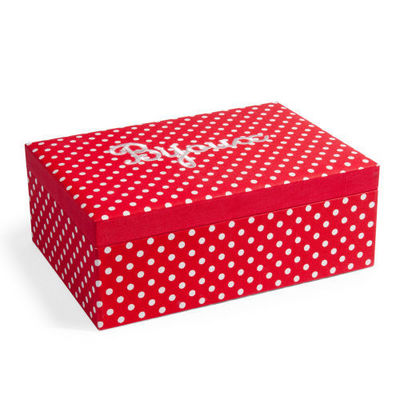 Maisons du monde - Coffret à bijoux-Maisons du monde-Boîte à bijoux Rétro rouge à pois