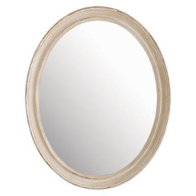 Maisons du monde - Miroir-Maisons du monde-Miroir Elianne ovale beige