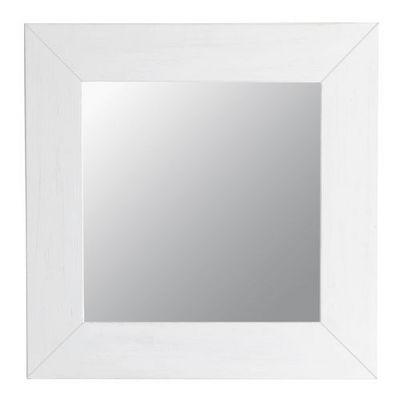 Maisons du monde - Miroir-Maisons du monde-Miroir Natura blanc carré