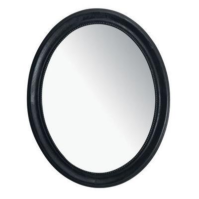 Maisons du monde - Miroir-Maisons du monde-Miroir Louis ovale noir