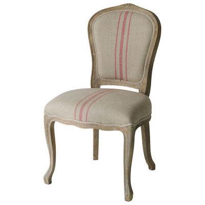 Maisons du monde - Chaise-Maisons du monde-Chaise rayures rouges Adélaïde