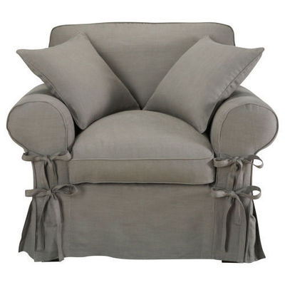 Maisons du monde - Fauteuil-Maisons du monde-Fauteuil lin gris clair Butterfly