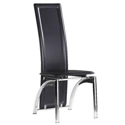 CLEAR SEAT - Table de repas ronde-CLEAR SEAT-Chaises Modernes Iris Noir Lot de 4