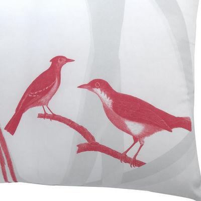 TROIS MAISON - Coussin carré-TROIS MAISON-Coussin motif Oiseau en soie - Moucherolles huppés