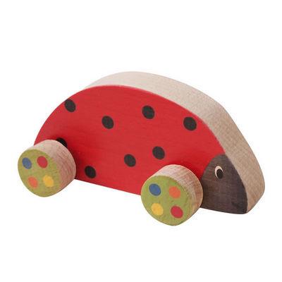 ANIM'EN BOIS - Jouet en bois-ANIM'EN BOIS-Coccinelle à roulettes (1-3 ans)