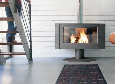 INVICTA - Poêle à bois-INVICTA-fourneau cheminé en bois Antaya Finition a 12Kw 10