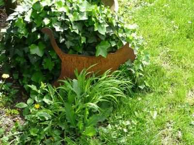 OKE DECORATION - Ornement de jardin-OKE DECORATION-Chat  en métal sur socle