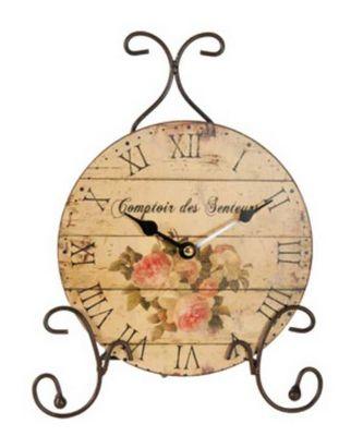 Antic Line Creations - Horloge de cuisine-Antic Line Creations-Horloge à poser comptoir des senteurs 30x22,5x9cm