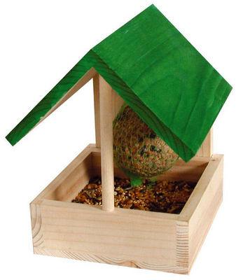 ZOLUX - Maison d'oiseau-ZOLUX-Mangeoire narcisse en bois 11,7x12,3x16,3cm avec b