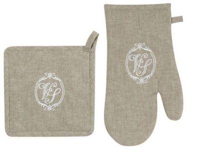 Antic Line Creations - Gant de four-Antic Line Creations-Gant et manique matelass�s venus lin en coton