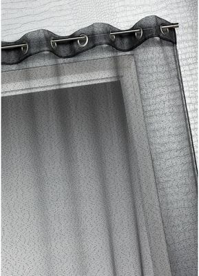 HOMEMAISON.COM - Voilage-HOMEMAISON.COM-Voilage organza à fines rayures horizontales