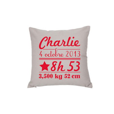 BY MATAO - Coussin carr�-BY MATAO-Coussin naissance Noisette