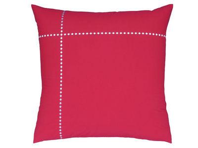 BLANC CERISE - Taie d'oreiller-BLANC CERISE-Taie d'oreiller carrée - percale (80 fils/cm²)- b