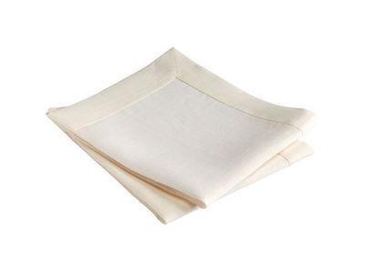 BLANC CERISE - Serviette de table-BLANC CERISE-Lot de 2 serviettes de table - lin trait� d�perlan