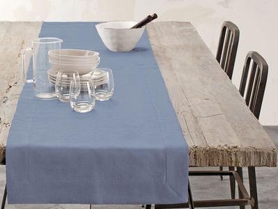 BLANC CERISE - Chemin de table-BLANC CERISE-Chemin de table - lin déperlant - uni, brodé
