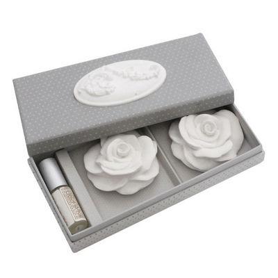 Mathilde M - Parfum d'int�rieur-Mathilde M-Bo�te m�daillon Roses, parfum Rose Ancienne