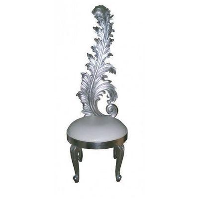 DECO PRIVE - Organisation de mariages : Réalisation-DECO PRIVE-Chaise de mariage royal sculptee en bois argente e