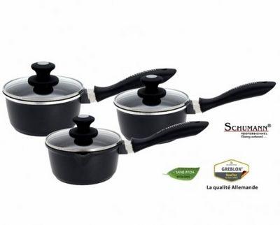 SCHUMANN PROFESSIONNEL - Casserole-SCHUMANN PROFESSIONNEL-Srie de 3 casseroles Mooove 16, 18 et 20 cm