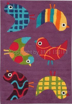 Arte Espina - Tapis enfant-Arte Espina-Tapis Design Enfant - Les Moineaux Siffleurs