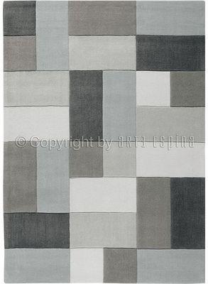 Arte Espina - Tapis contemporain-Arte Espina-Tapis de chambre REFLECTIVE 4 gris 120x180 en Acry