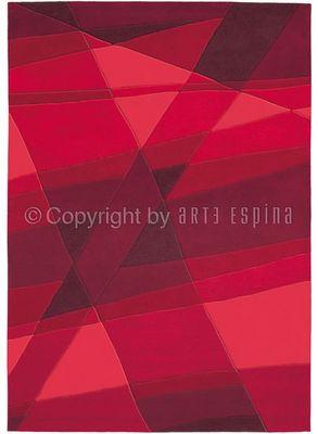 Arte Espina - Tapis contemporain-Arte Espina-Tapis de salon LUMINOUS Rouge 140x200 en Acrylique