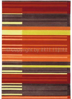 Arte Espina - Tapis contemporain-Arte Espina-Tapis de salon COLOUR CODES rouge 140x200 en Acryl