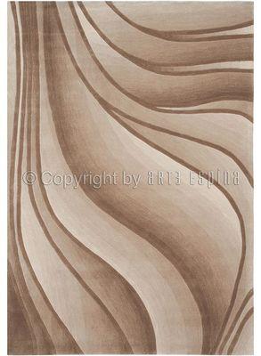 Arte Espina - Tapis contemporain-Arte Espina-Tapis de salon IN MOTION beige 140x200 en Acryliqu