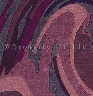 Arte Espina - Tapis contemporain-Arte Espina-Tapis de chambre ACTION PAINTING violet 120x180 en