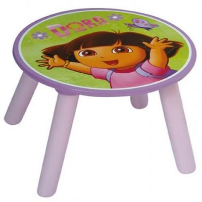 DORA - Table enfant-DORA-TABOURET DORA L'EXPLORATRICE