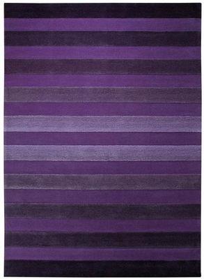 ESPRIT - Tapis contemporain-ESPRIT-Tapis de chambre CROSS WALK violet 90x160 en Acryl