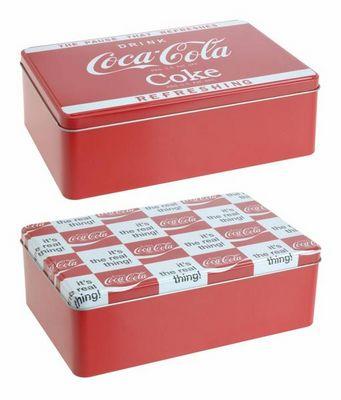 WHITE LABEL - Boite à biscuits-WHITE LABEL-Boîte à sucre Coca cola
