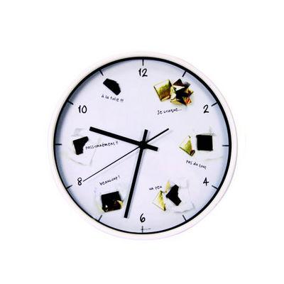 WHITE LABEL - Pendule murale-WHITE LABEL-Horloge Gourmande Chocolats