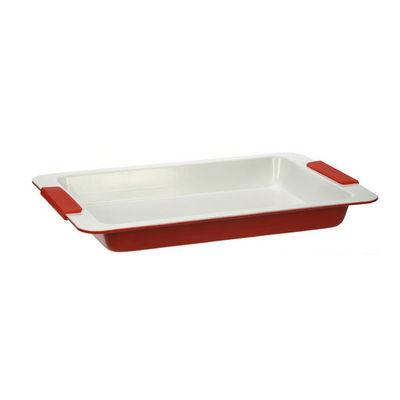 WHITE LABEL - Plat à four-WHITE LABEL-Plat au four en acier et céramique anti-adhésive
