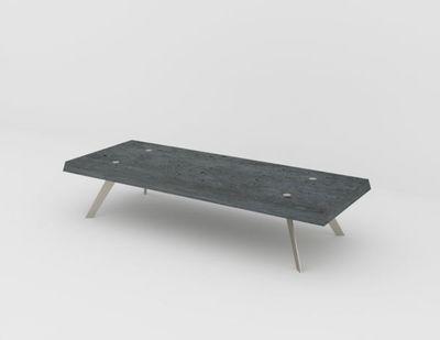 MALHERBE EDITION - Table basse rectangulaire-MALHERBE EDITION-La Béton lamée