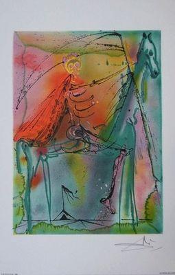 ARMAND ISRAËL - Lithographie-ARMAND ISRAËL-Le Cheval de la mort de Salvador DALI li