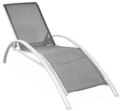 PROLOISIRS - Chaise longue de jardin-PROLOISIRS-Lit de jardin Sartene en aluminium et textil�ne Gr