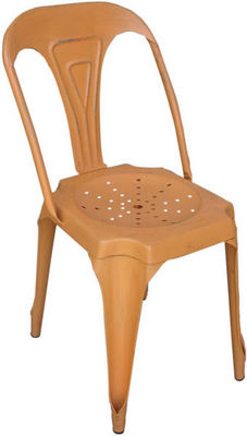 Antic Line Creations - Chaise-Antic Line Creations-Chaise Vintage en m�tal Orange