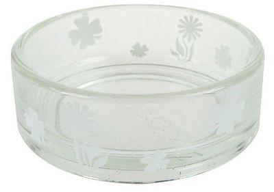 ZOLUX - Gamelle-ZOLUX-Ecuelle transparente blanche en verre 12x12x4.5cm