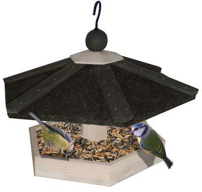 ZOLUX - Mangeoire à oiseaux-ZOLUX-Mangeoire à suspendre en bois hexa 27x27x27cm