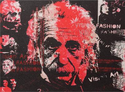 KOKOON DESIGN - Tableau décoratif-KOKOON DESIGN-Toile peinte einstein vision fashion structure boi