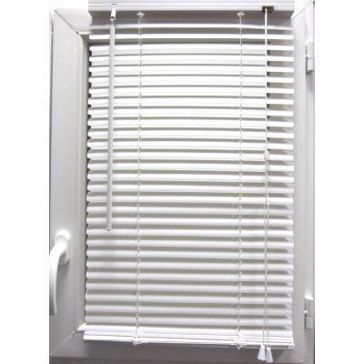 Luance - Store enrouleur-Luance-Store vénitien PVC blanc 40x130 cm
