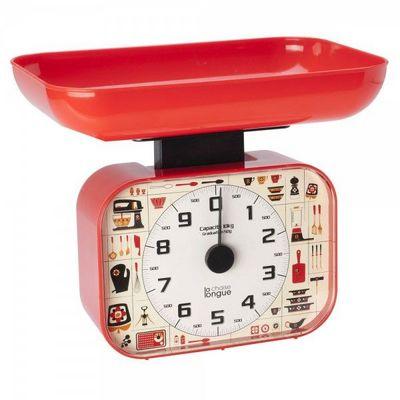 La Chaise Longue - Balance de cuisine mécanique-La Chaise Longue-Balance Cuisine 70's Rouge